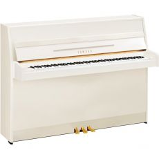 Yamaha b1 PWH Akustisches Klavier Weiss Hochglanz Poliert