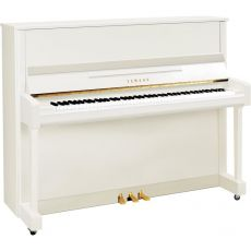 Yamaha B3 PWH Akustisches Piano Weiss Hochglanz Poliert