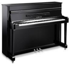 Yamaha b2 PEC Akustisches Piano Schwarz Hochglanz Poliert Chrome