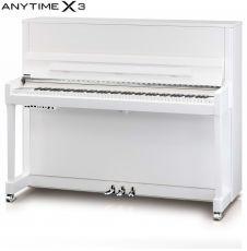 Kawai K-300 ATX3 WH/P Silber Piano mit Anytime X-3 Weiss Poliert